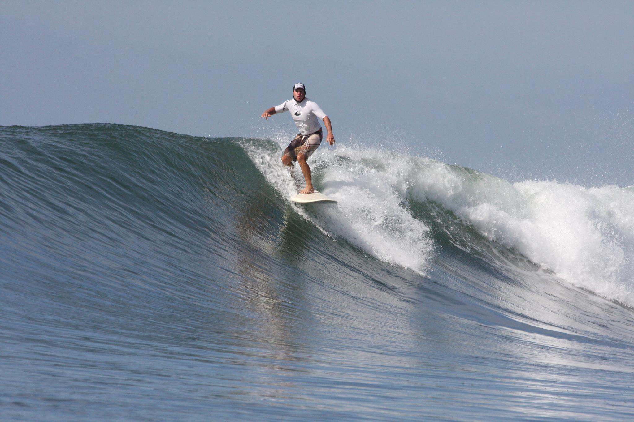 John surfing pic